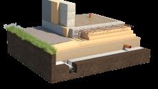 Фундамент под стоящий деревянный дом